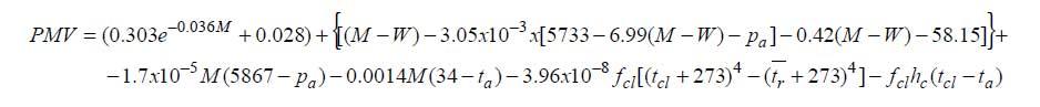 Equilibrio Termico Formula Formula Comfort Termico
