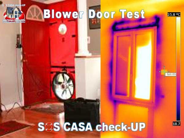 BLOWER DOOR TEST:Risparmio Energetico e tenuta alle infiltrazioni d'aria dell'edificio