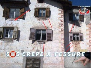 Fessure crepe sui muri pericolose