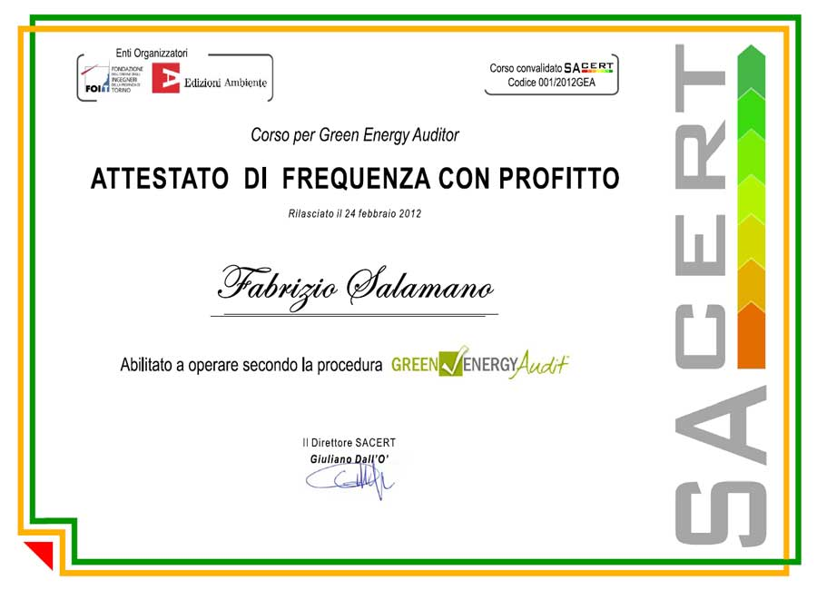 Green Energy Audit - Ingegnere salamano