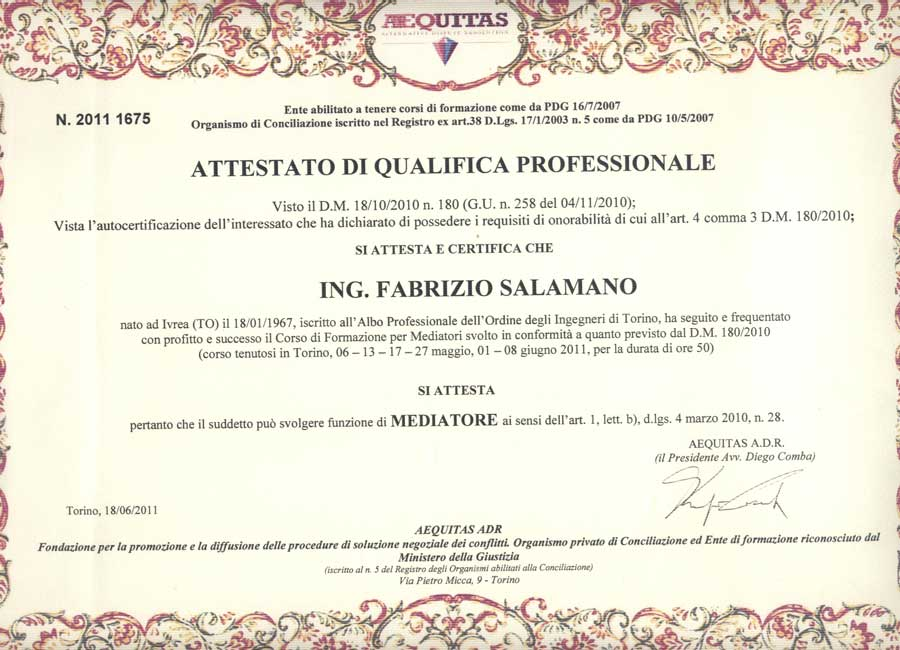 Ing Fabrizio Salamano