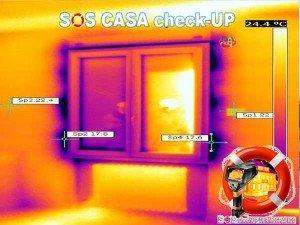 Termografia per la tenuta dei serramenti alle infiltrazioni aria