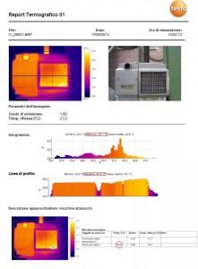 Esempio di report Termografico per termografia a Biella
