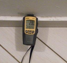 misurare umidità misurazione umidità nei muri con termoigrometro