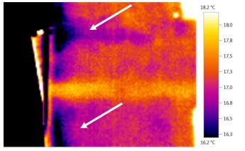 Distacco dell'intonaco. Individuarlo con la termografia IR