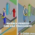 ricerca perdite acqua con gas tracciante