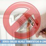 Deroga a valvole termostatiche e contabilizzazione nei Condomini